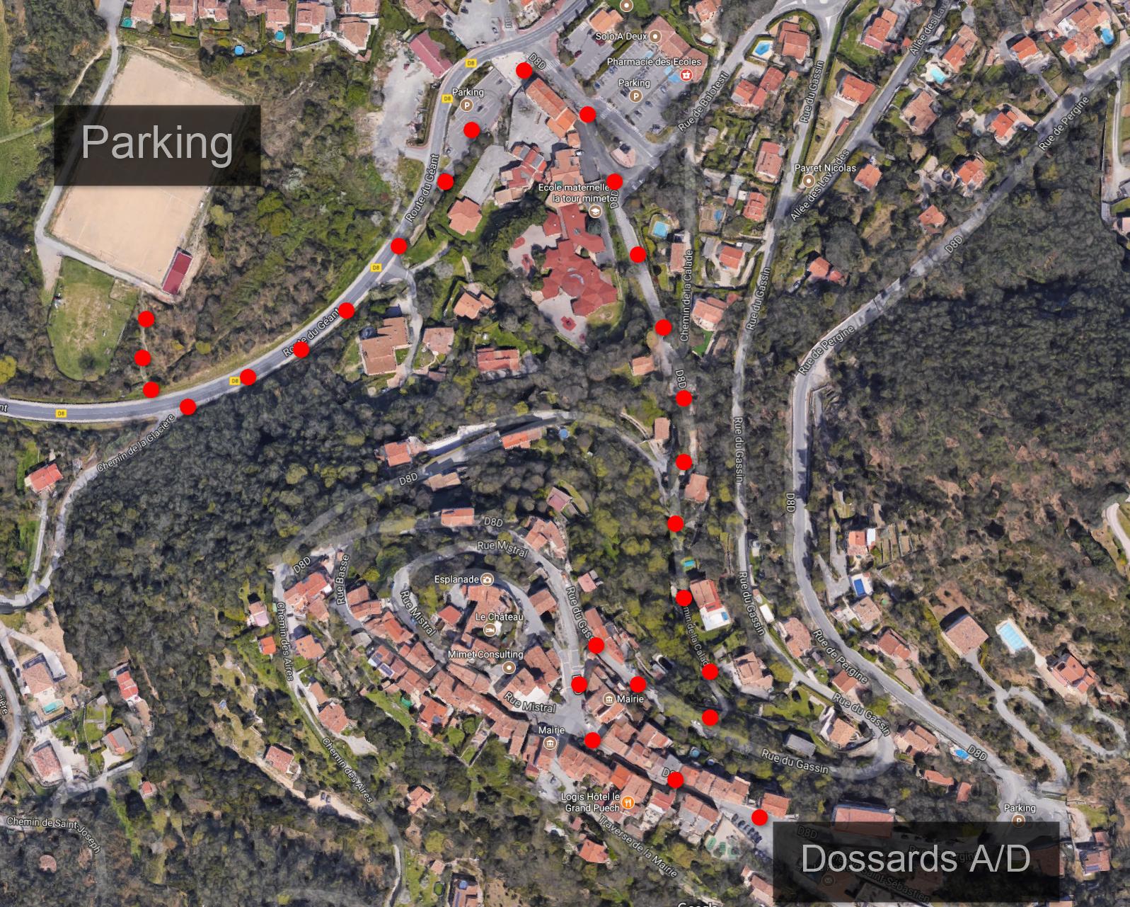 Parking et accès dossards